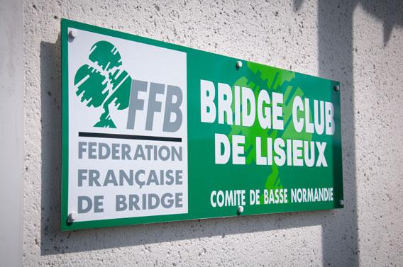 plaque bridge club lisieux calvados normandie